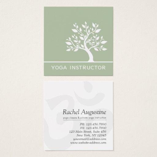 Elegant Tree Yoga Instructor Wellness Life Coach Square Business ...