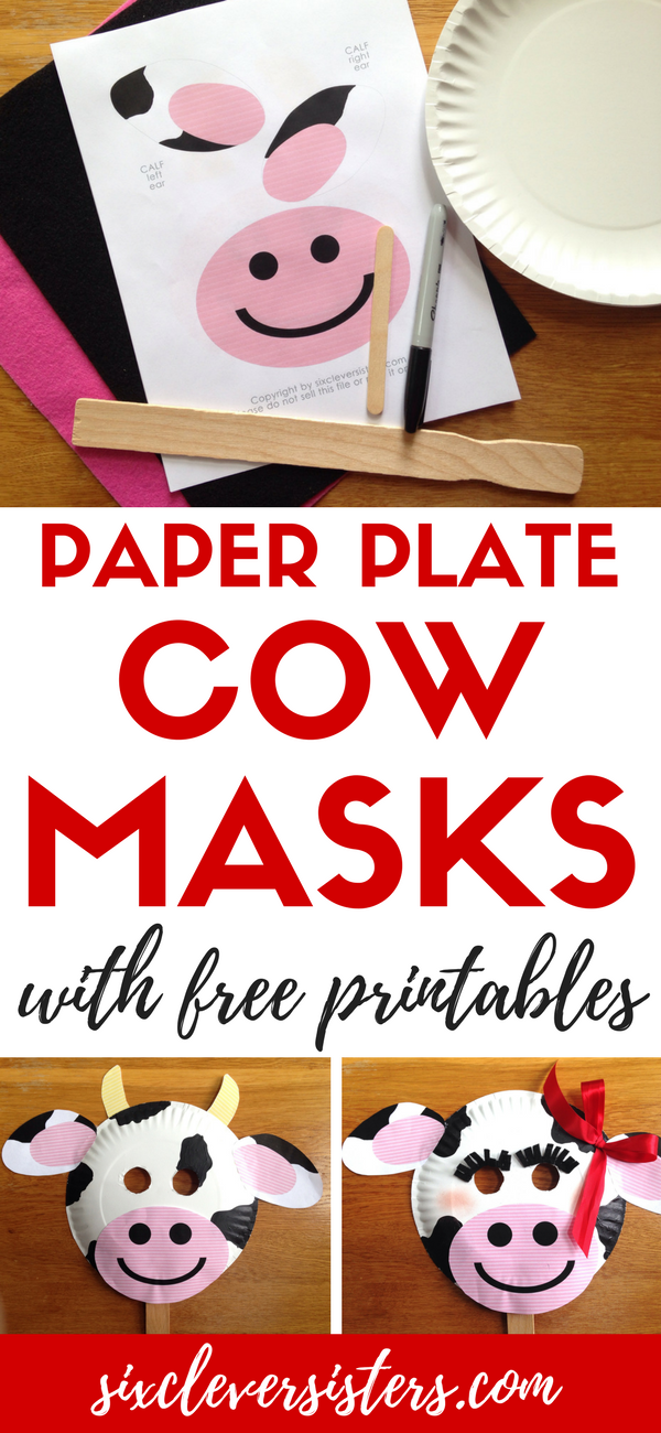 how to make a cow mask out of paper
