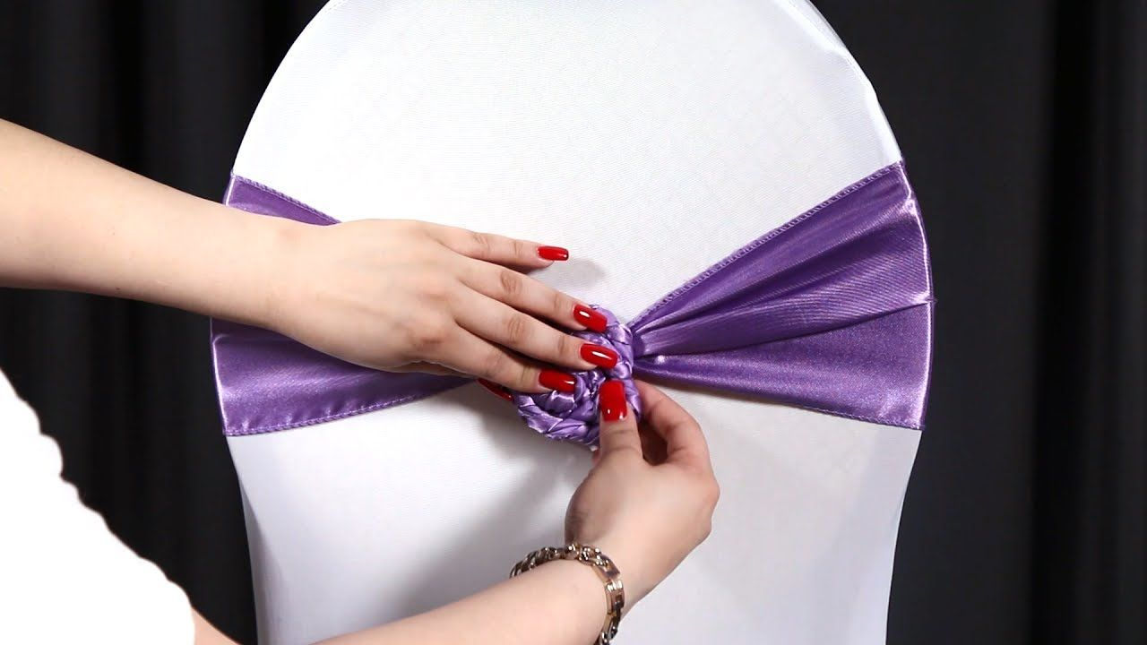 How To Tie A Rosette Chair Sash Tie Chair Sash Chair Ties