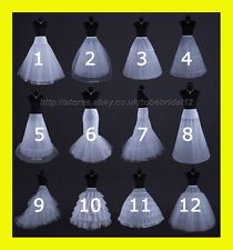 White Or Black Bridal Wedding Dress Prom Petticoat Underskirt Crinoline S Xl
