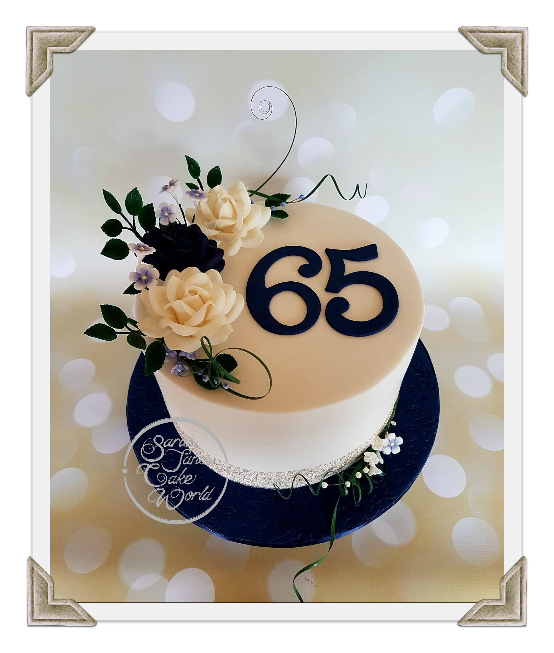 Cake Ideas For Wedding Anniversary: 65th (sapphire) Wedding Anniversary Cake