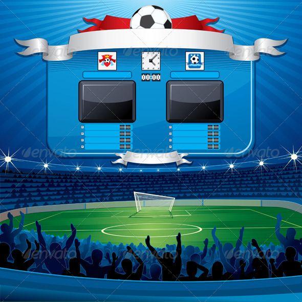 Vector Soccer Scoreboard | Gradient mesh, Font logo and Fonts