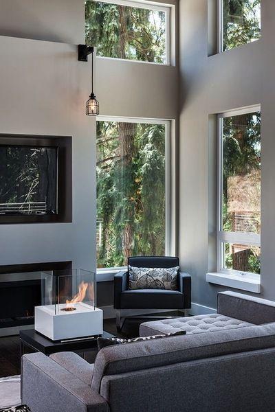 Salon Moderne Et Lumineux. Http://Www.M-Habitat.Fr/Par-Pieces