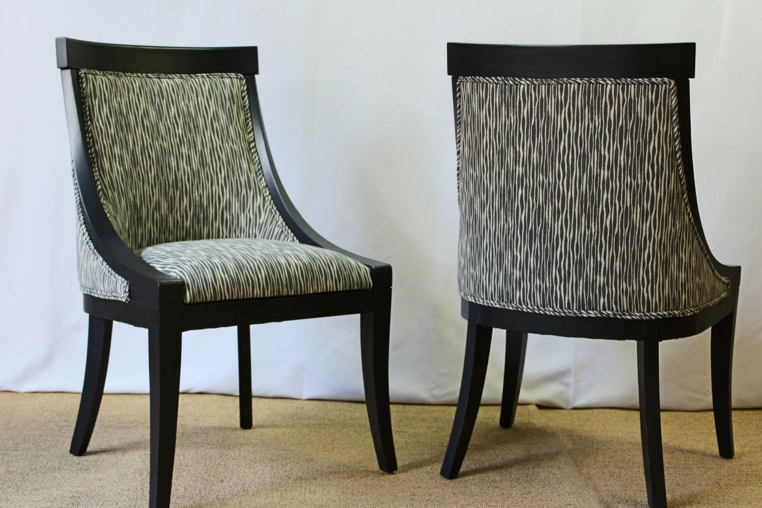 Two newly refinished occasional chairs by FSFurnishings on Etsy