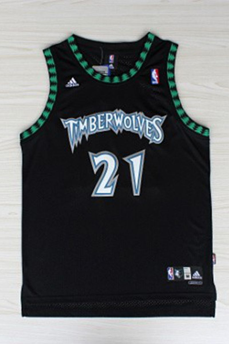 Kevin Garnett 21 Minnesota Timberwolves Black Throwback Basketball Jersey The Name And Number Minnesota Timberwolves Basketball Jersey Kevin Garnett Jersey
