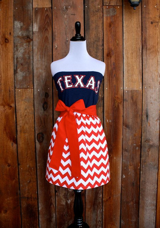 Texas Rangers Baseball Strapless Game Day Dress Size Small Etsy Gameday Dress Texas Rangers Baseball Style