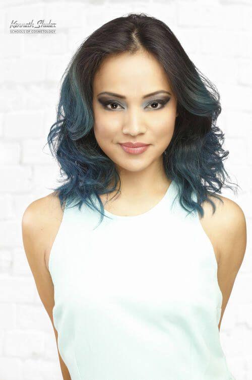 Dark Brown Hair With Blue Highlights Fabulous Hair Pinterest