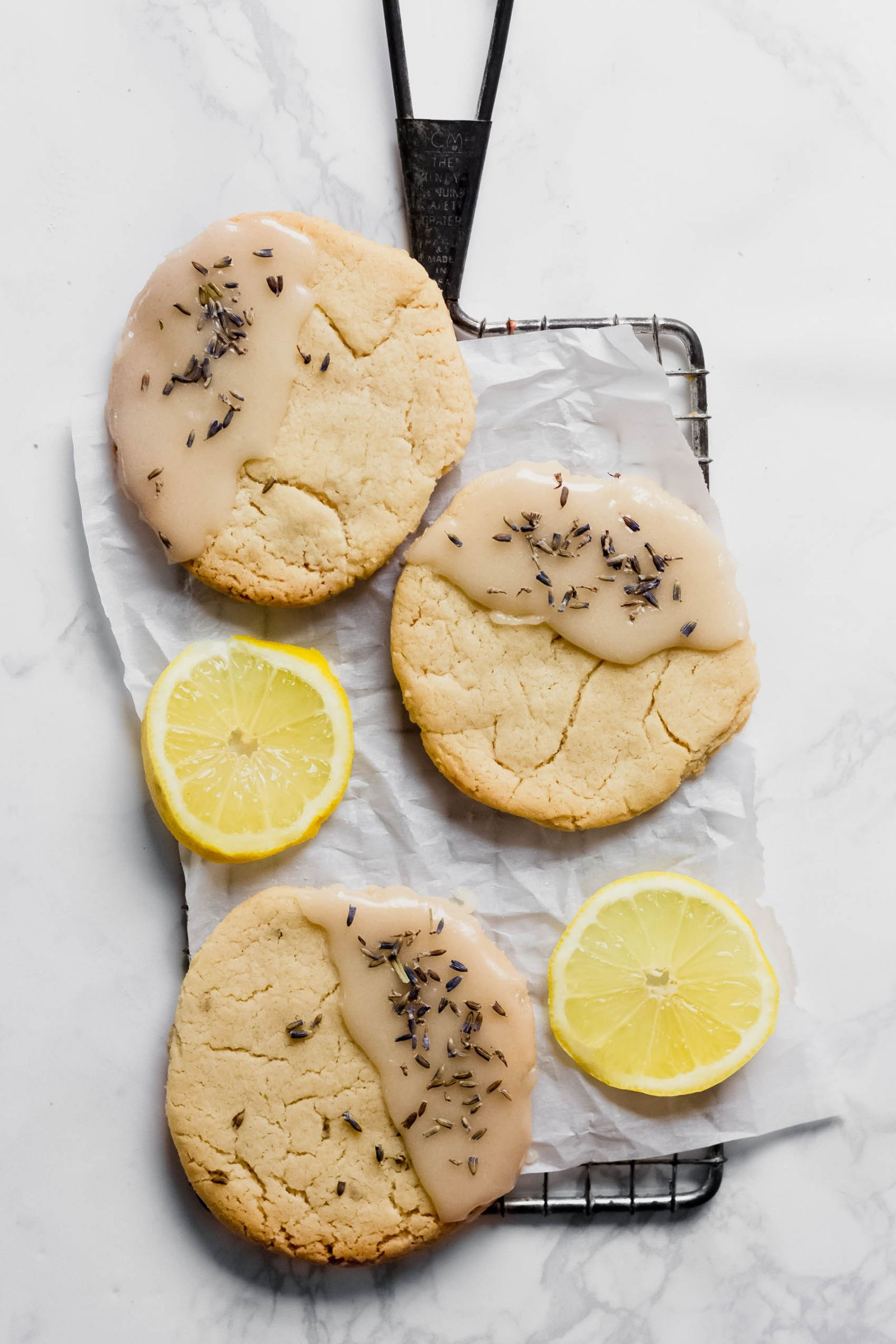 Vegan Lavender Lemon Cookies