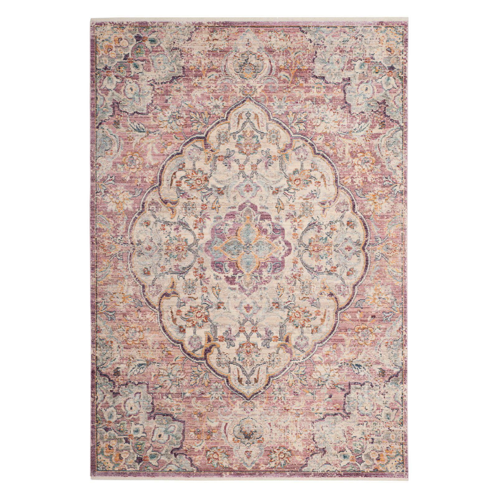 Best Safavieh Illusion Ill711 Indoor Area Rug Cream Rose 400 x 300