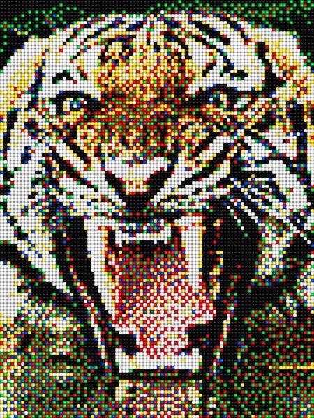 pixel art tigre