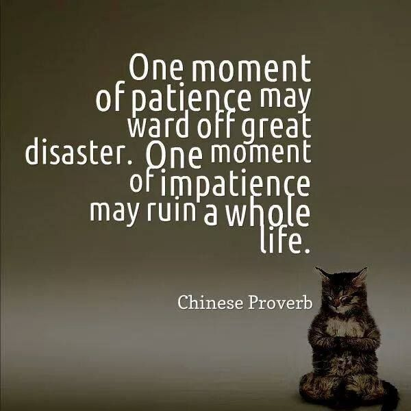 Asian philosophy of patience