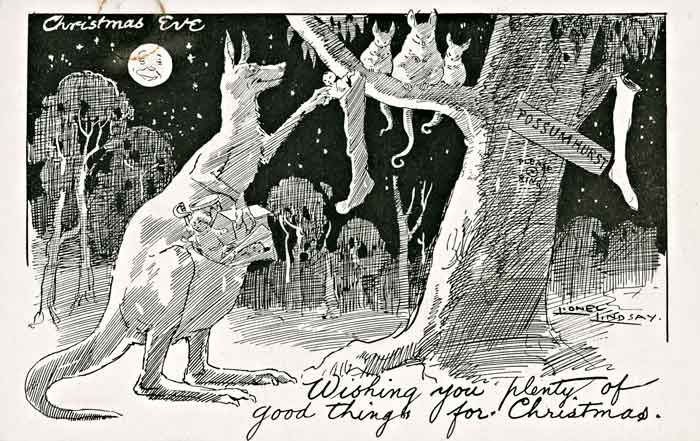 Lionel lindsay long before the six white boomers of rolf harris wishing you plenty of good things for christmas australian greeting card by lionel lindsay via naa m4hsunfo Choice Image