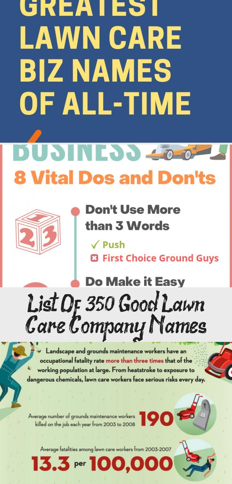 List Of 350 Good Lawn Care Company Names In 2020 With Images Lawn Care Companies Lawn Care Water Wise Landscaping