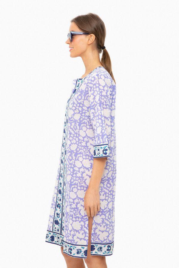 Padra Violet Long Kurta Dress   SZ Blockprints