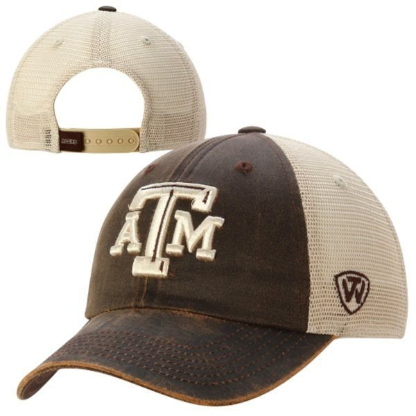 size 40 749fa dde95 Texas A M Aggies Top of the World Brown Scat Mesh Adjustable Snapback Hat  Cap