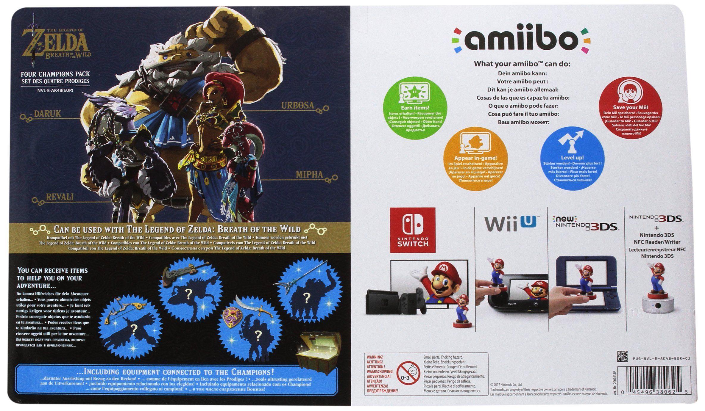 Amiibo The Legend Of Zelda Breath Of The Wild Recken Set Figuren