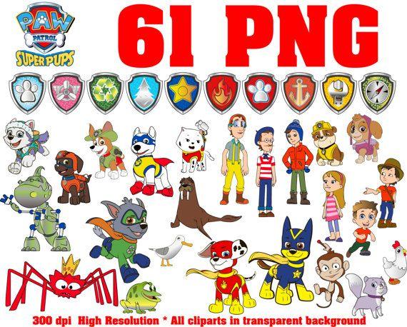 Paw All Patrol Clipart 137 Png 300 Dpi Patrol Badges