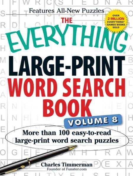 the everything large-print word search book, volume 8: more than 100 ...