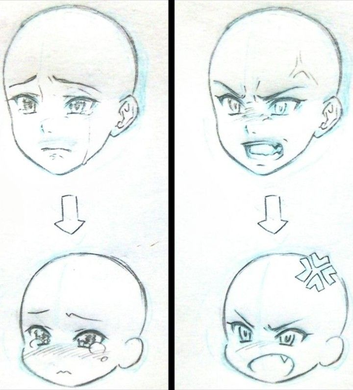 angry baby emotionexpressions tipo anime Ана�омия in