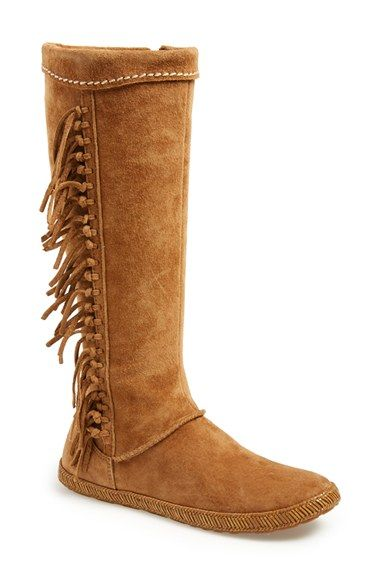 UGG® Australia 'Mammoth' Water Resistant Knee High Fringe Boot (Women) available at #Nordstrom