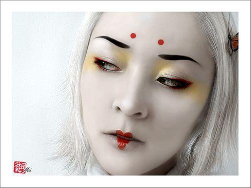 Sugarplum Pinups Geisha Look Geisha Makeup Fantasy Makeup Chinese Makeup
