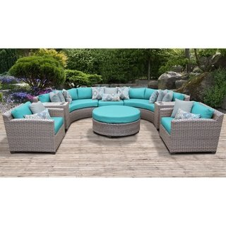 Florence 8 Piece Outdoor Wicker Patio Furniture Set 08e Outdoor Wicker Patio Furniture Patio Furniture Sets Wicker Patio Furniture