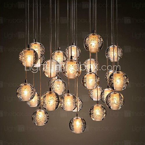 Max 3w pendant light modern contemporary chrome feature for crystal metal living room