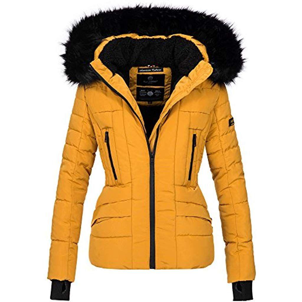 Navahoo Damen Winter Jacke warm gefüttert Teddyfell Stepp