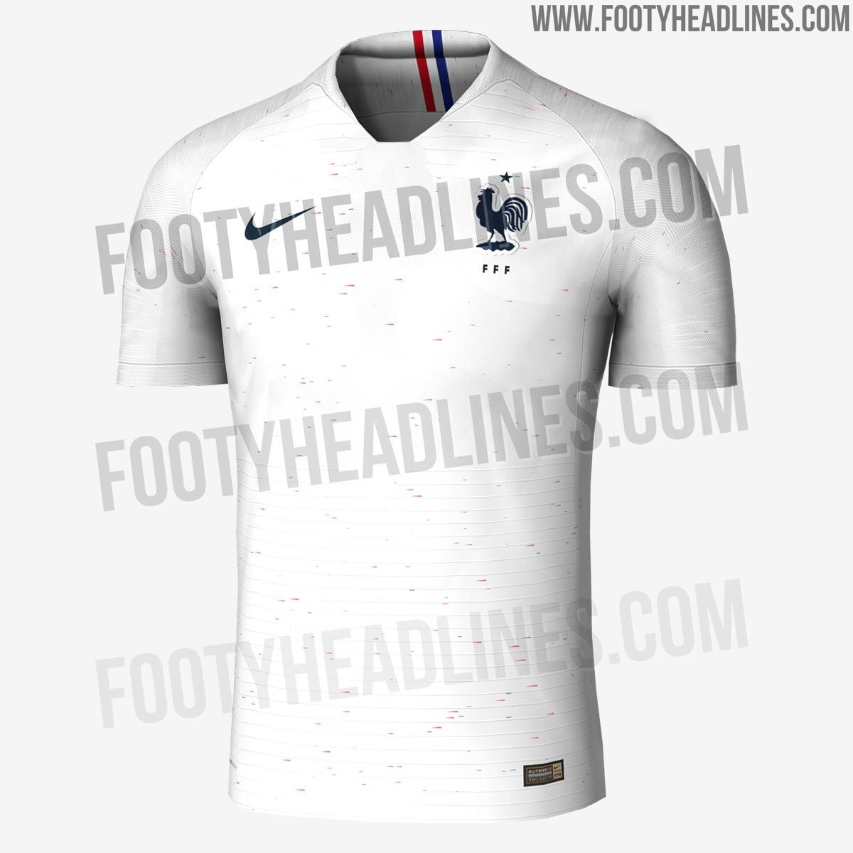 The France 2018 World Cup Away Kit Will Introduce A Brand New Look That Draws Inspiration From 1990s Patterns World Cup Team Wear Mens Tops