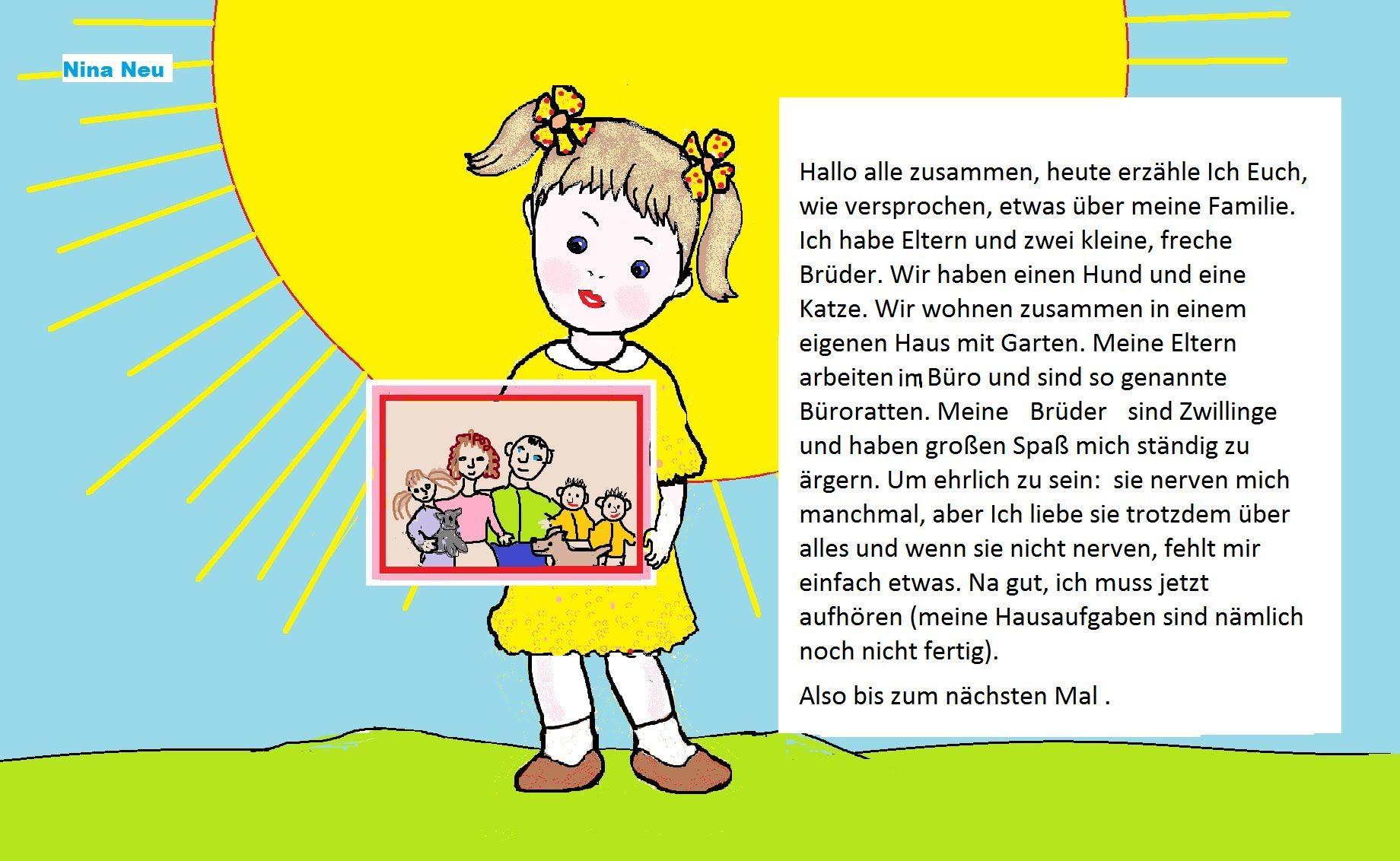 Рассказ о семье на английском для 2 класса