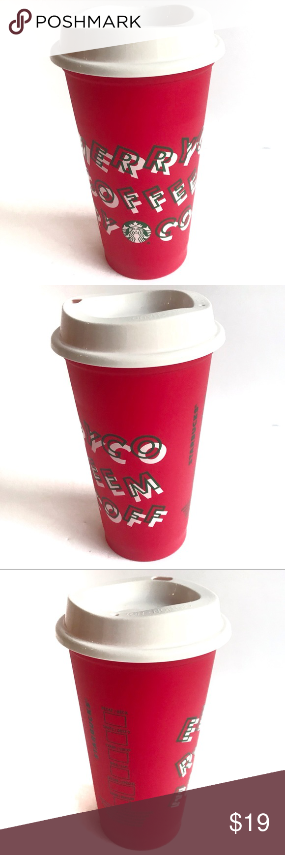 Starbucks Limited Edition Red Cup Holiday 2019 NWT (With
