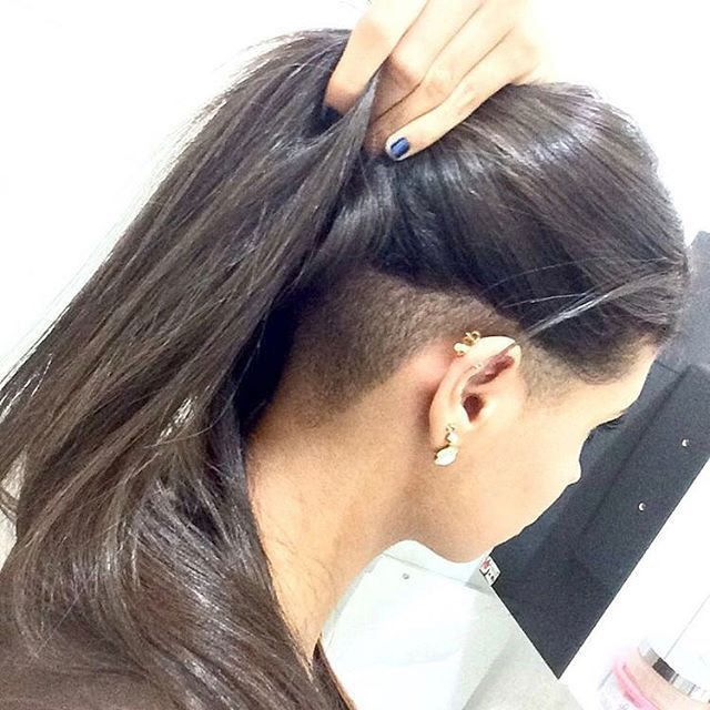 Hashtag Shornnape On Instagram Undercut Long Hair Hair Styles Haircuts For Long Hair