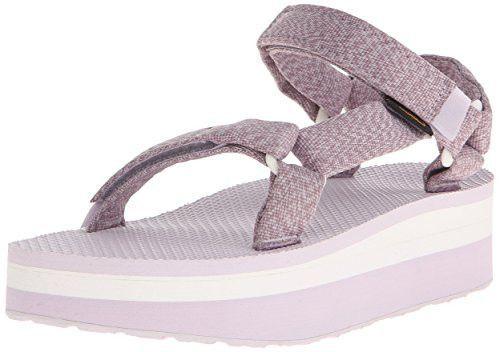 b0e2dc92d Teva Women s Flatform Universal Platform Sandal - Marled Orchid - 11 M US