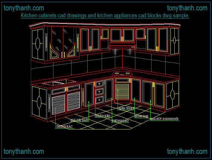 Kitchen cabinets cad drawings and kitchen appliances cad blocks dwg ...