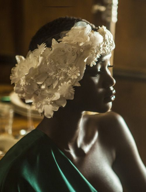 Ataui Deng for I Love You Magazine. Photo by Elle Muliarchyk. Elaborate but doable.