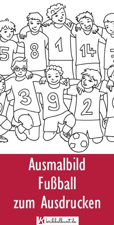 ausmalbilder fußball » kostenlos als pdf in 2020