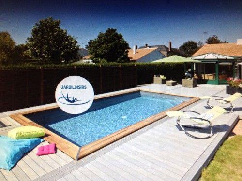la piscine maeva rectangulaire 5x3m est un kit piscine bois enterre ou semi enterre complet - Piscine Bois Enterree Rectangulaire