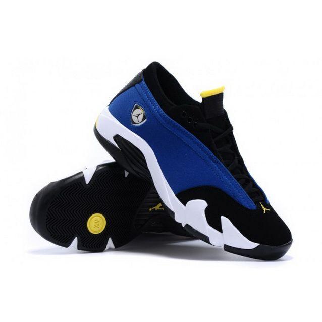 c2275fd2773dad Women Nike Air Jordan 14 Retro Low Blue Black White Shoes