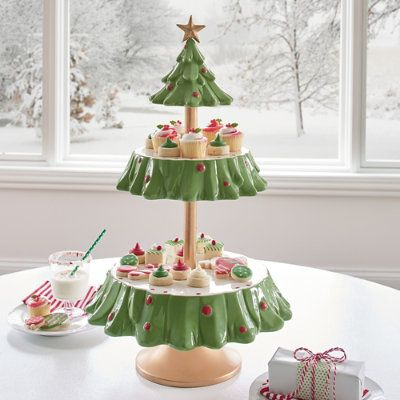 Grandinrod Christmas 2020 Tree Tiered Server | Grandin Road in 2020 | Christmas decorations