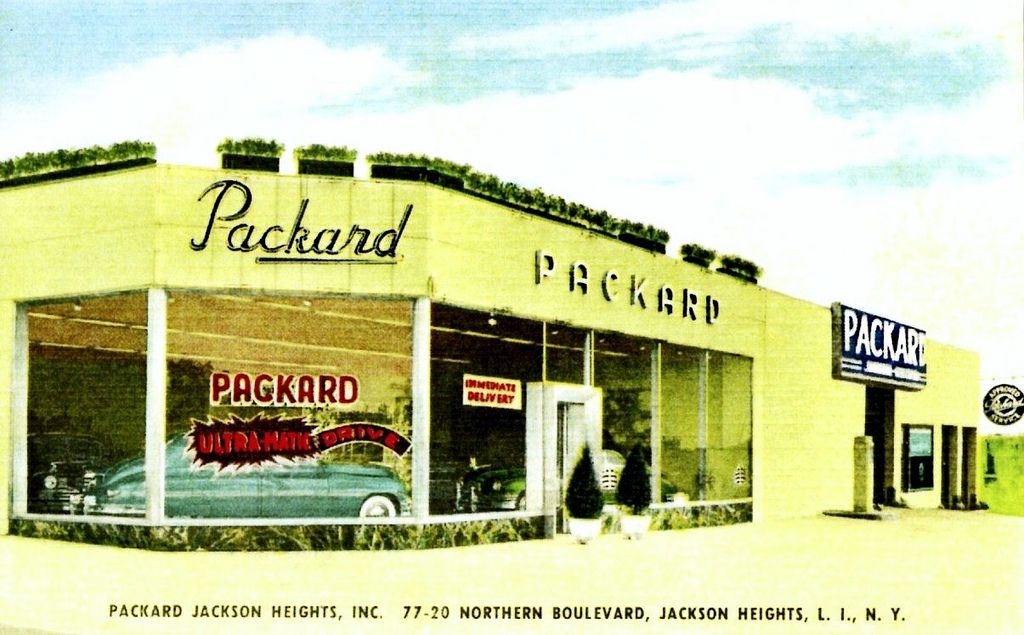 Packard Jackson Heights, Packard, L.I., NY, 1949 Jackson