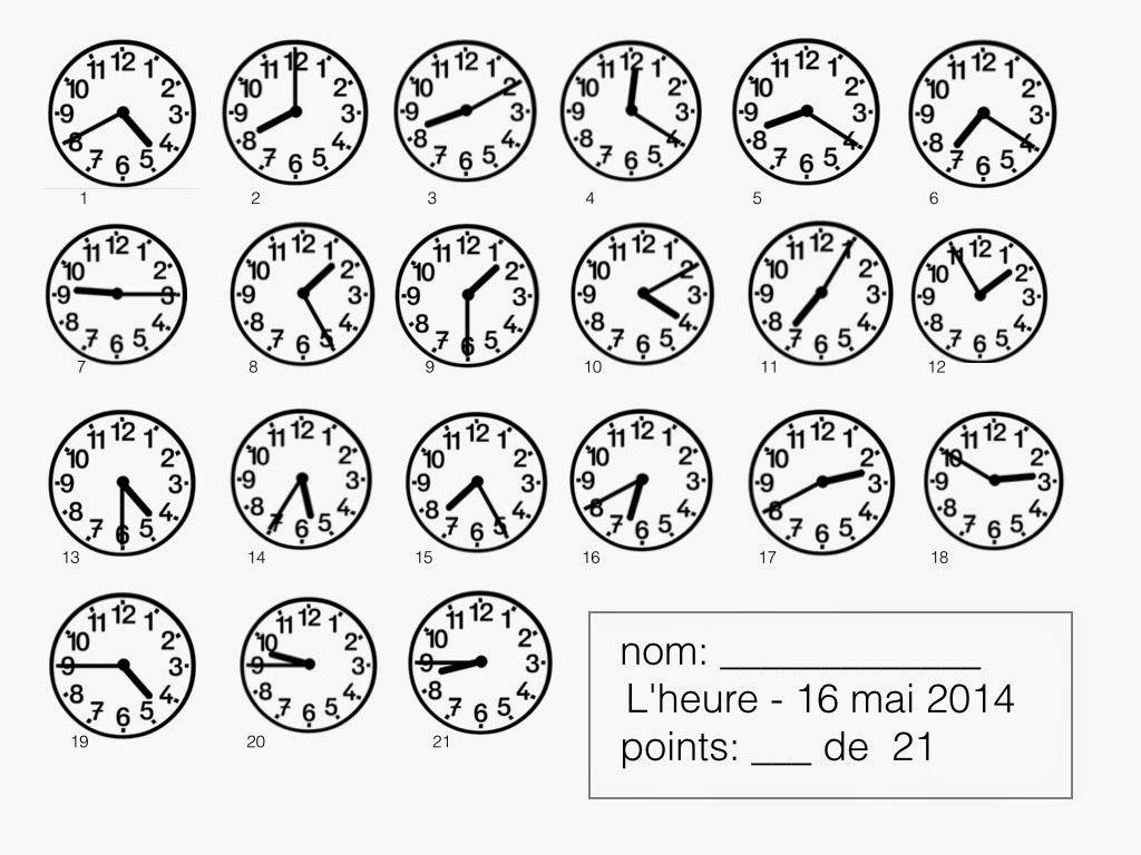 uhrzeiten französisch arbeitsblatt - Google-Suche | Francais A1 ...