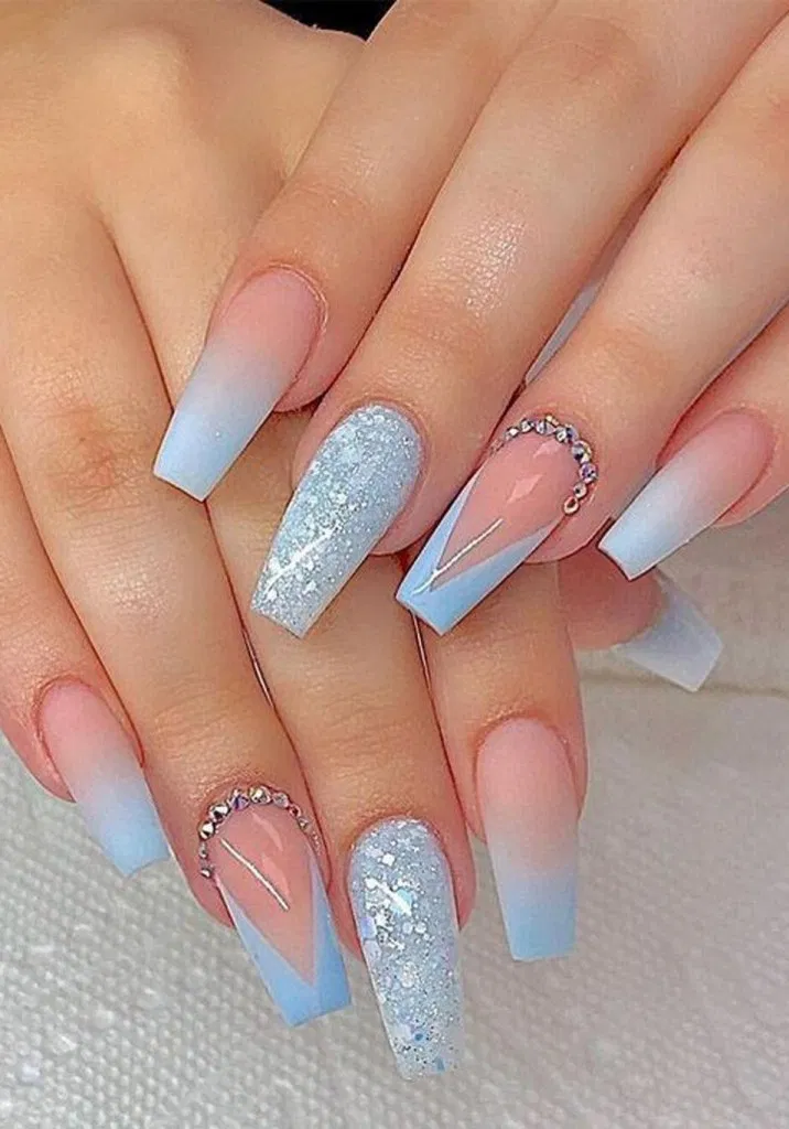16 Pretty Acrylic Coffin Nails For Summer 6 In 2020 Blue Acrylic Nails Coffin Nails Long Coffin Nails Designs