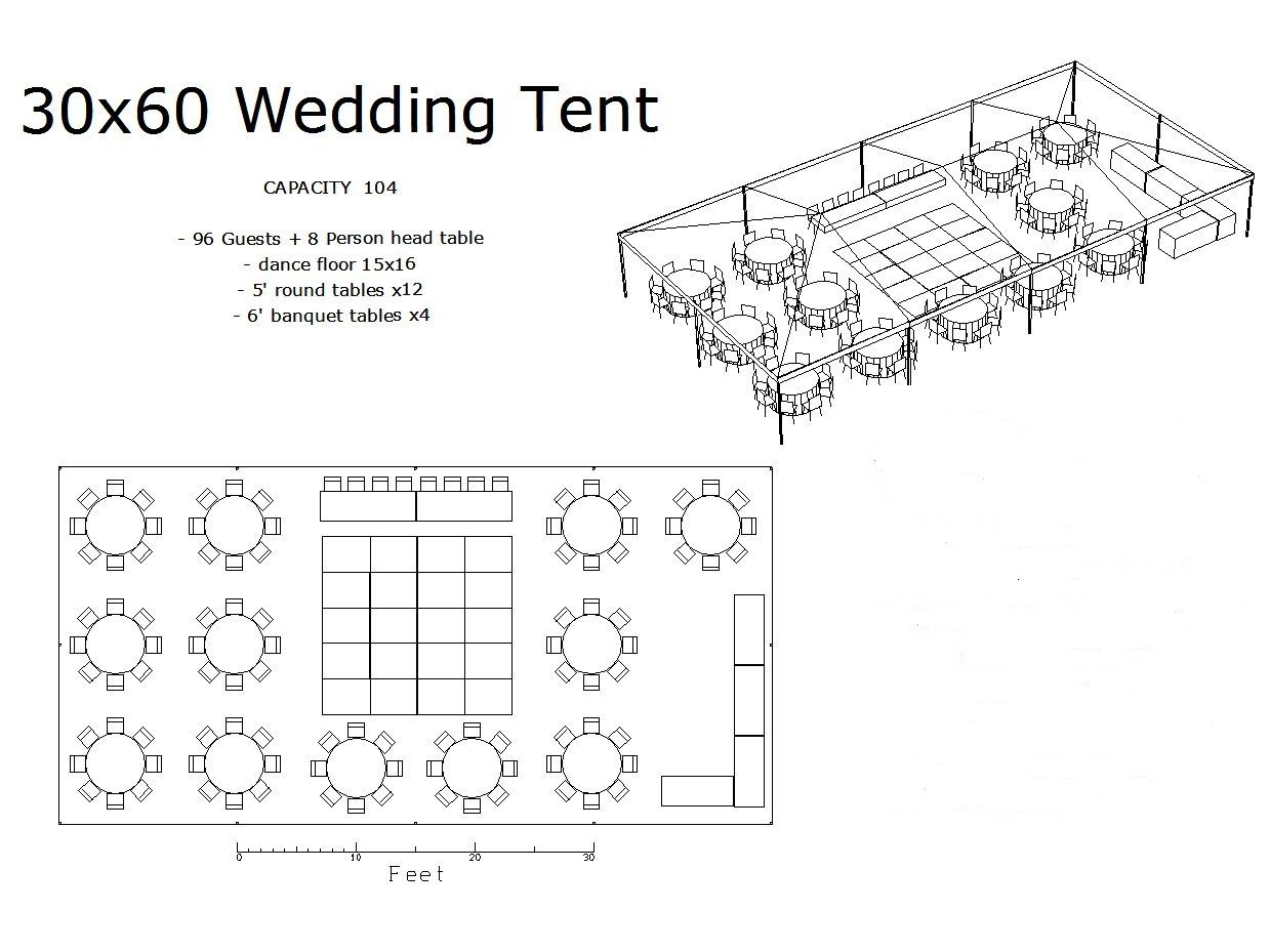 Tent Layouts For 100 To 120 People Wedding Tent Layout Wedding Floor Plan Wedding Table Layouts