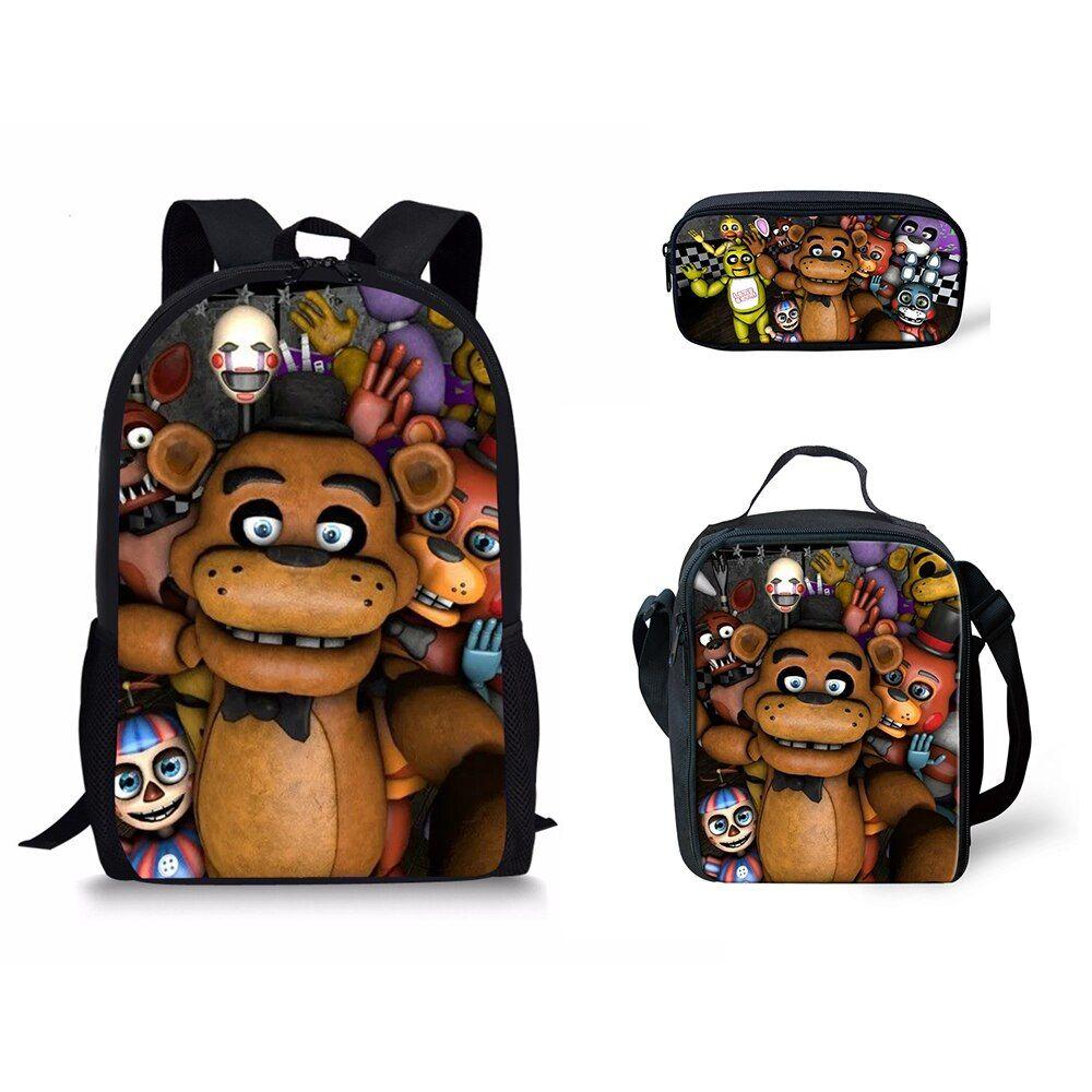 Five Nights at Freddy/'s Backpack black bag student Backpack Shoulder School Bags