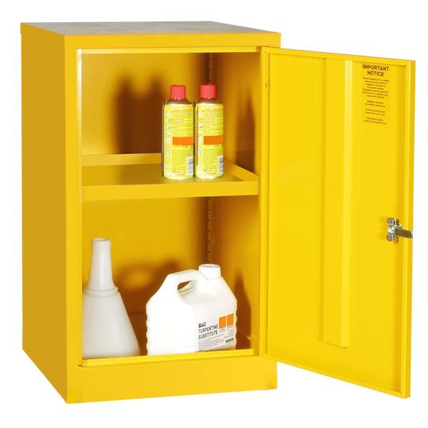 Mini Hazardous Substance Cabinet   1 Shelf These Robust Metal Chemical  Storage Cabinets Have Been Designed