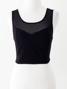 OMBLA CROP TANK - BLACK