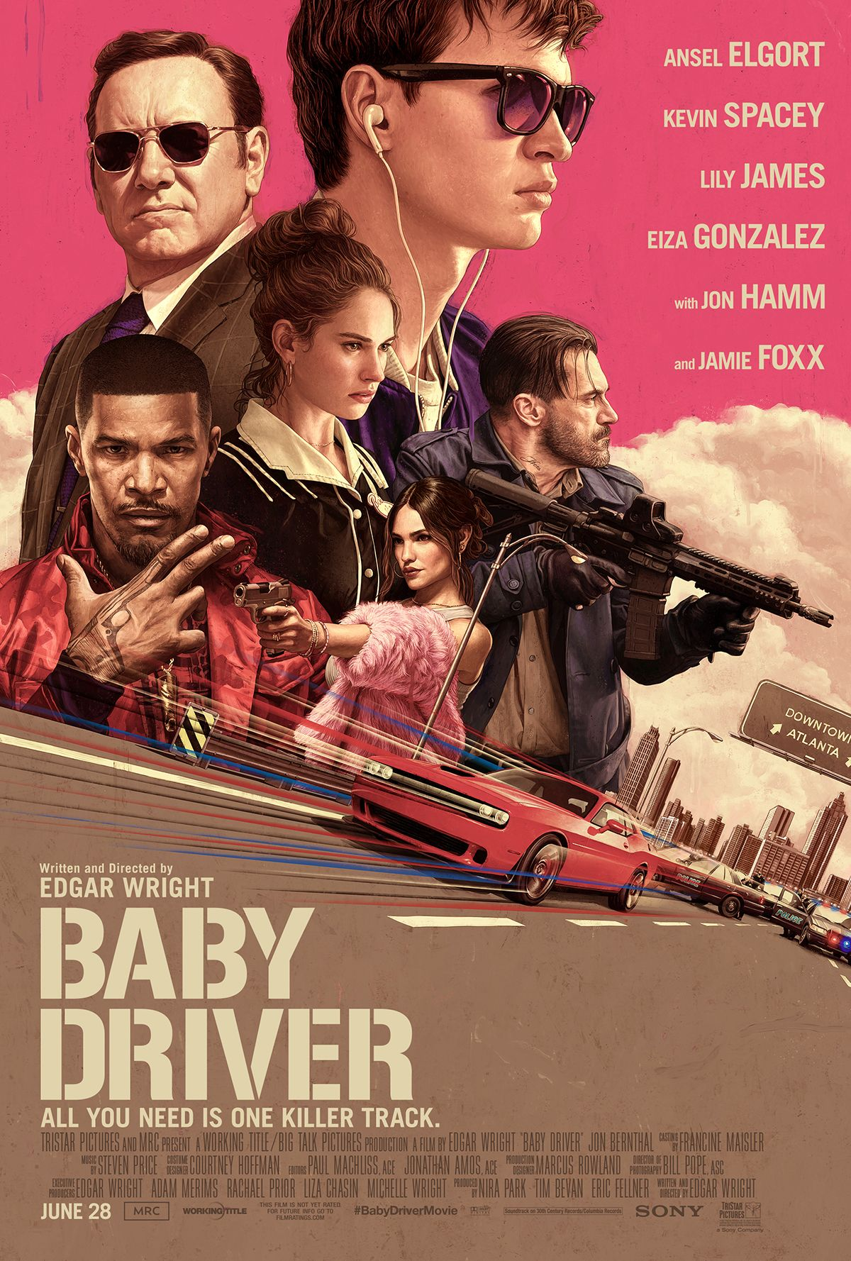 100 Movie Challenge 2017, 87/ 100: Baby Driver, Rating: 5/ 5
