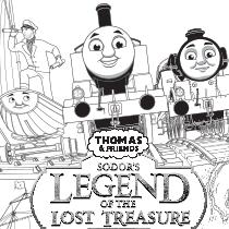 Thomas Friends Legend Of The Lost Treasure Coloring Page Thomasandfriends Coloringpages Coloring Pages Thomas And Friends Coloring Books