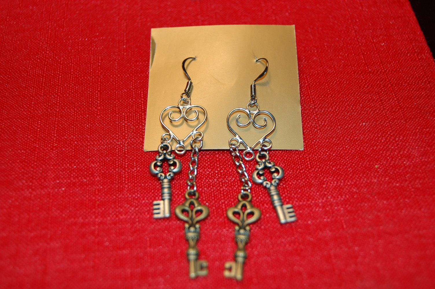 Heart & Keys Earrings