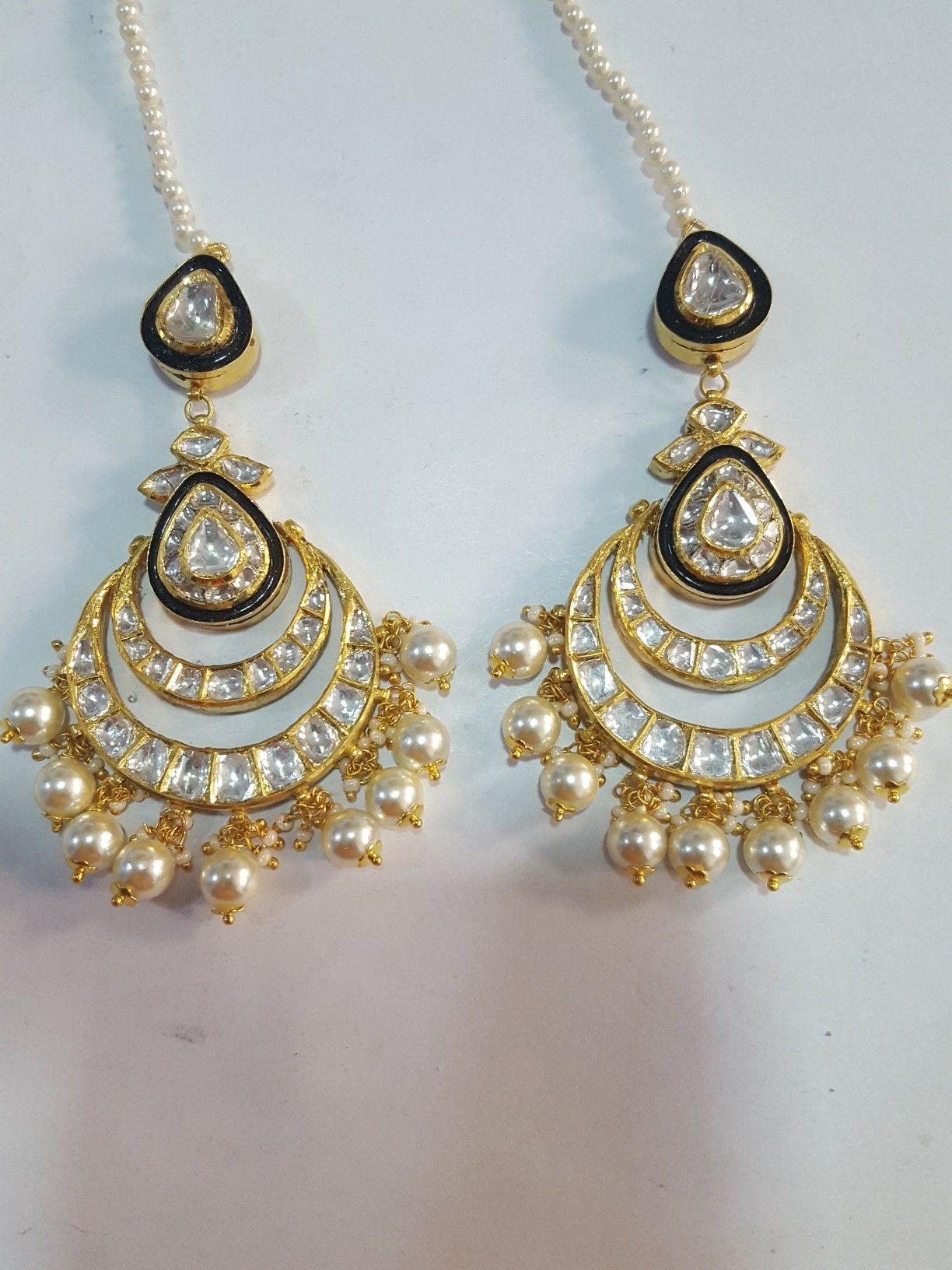 9f66ea3dd57a7 kundan meena polki chandbali | jadau jewellery in 2019 | Jewelry ...